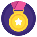 award, badge, medal, prize, sport, win, winner icon