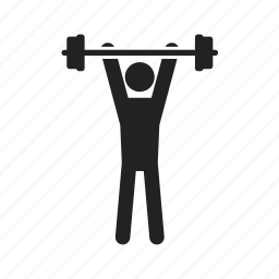 dumbbell, exercise, gym, gymnastic, health, man, sport, stamina, strength, weight icon
