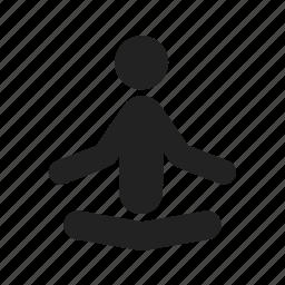 exercises, fitness, health, meditation, yoga icon