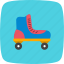 ice roller, roller skate, skating icon