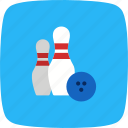 bowling, game, sport icon