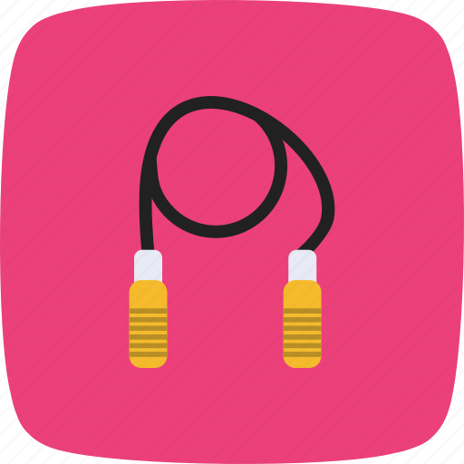 exercise, jumping, rope, skipping icon
