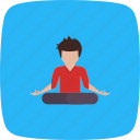 exercise, posture, workout, yoga icon