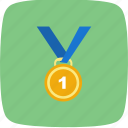 gold, medal, winner icon