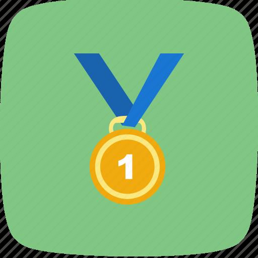 gold, medal, winner icon