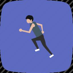 human, marathon, people, run, runner icon