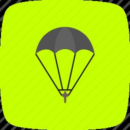 gliding, parachute, parachutist, skydiving icon