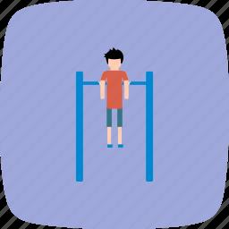 fitness, game, gym, handbar, handlebar, training icon