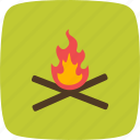 adventure, camping, fire icon