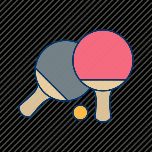 ball, game, pair, pingpong, racket, sport icon