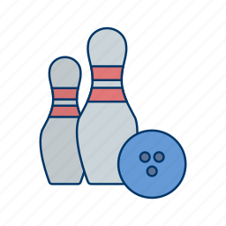 bowling, game, hit, movement, sport, strike, target icon