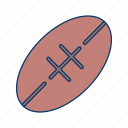 activity, ball, game, oval, rugby icon