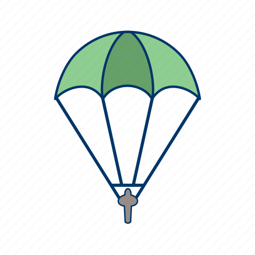 aerial, cloud, gliding, landing, parachutist, skydive, string icon