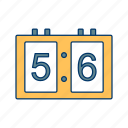 board, digital, game, scoreboard, sport, time icon