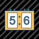 board, digital, game, scoreboard, sport, time icon
