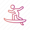 board, surf, surfer, surfing icon