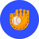 ball, baseball, game, glove, mitt, sport, training icon