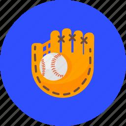 ball, baseball, game, glove, mitt, sport, training icon