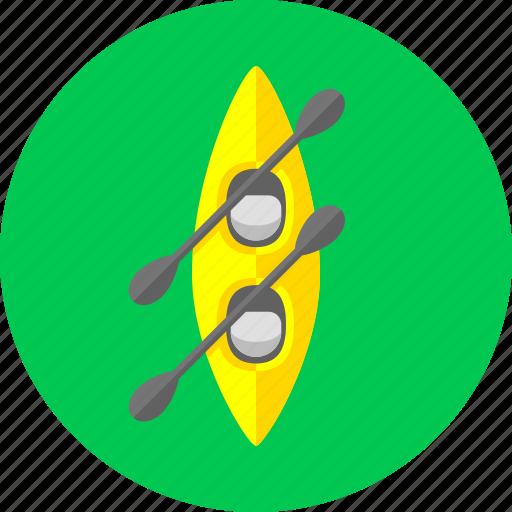 boat, canoe, canoeing, kayak, oars, rowing, sport icon
