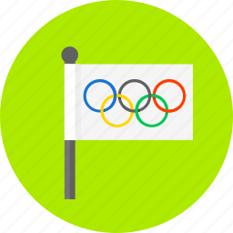 competition, flag, olympic games, sport, world icon