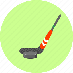 bandy, hockey, hockey stick, ice, ice hockey, puck, sport icon