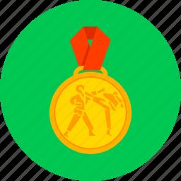karate, kyokushin, medal, prize, reward, sport, taekwondo icon