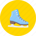extreme, ice skates, skater, skates, skating, training, winter sport icon