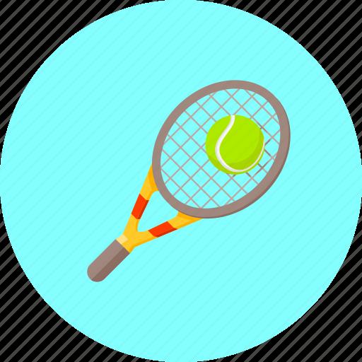 ball, equipment, game, lawn tennis, racket, sport, tennis icon