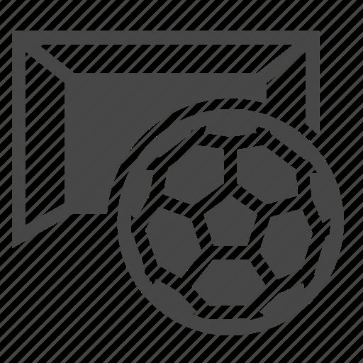 ball, goal, soccer icon
