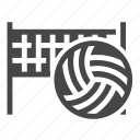 ball, net, sport, volleyball