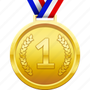 award, first place, gold, medal, prize, winner icon