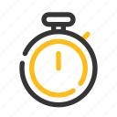 exercise, fitness, football, sports, stopwatch, time, timer icon