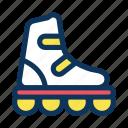 skate, inline, sport icon