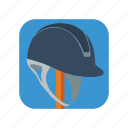 equestrian, hat, helmet, horse, jockey, race, riding icon