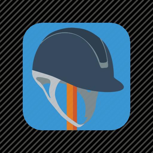 equestrian, hat, helmet, horse, jockey, race, riding icon