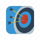 archery, arrow, dart, goal, sign, sport, target icon