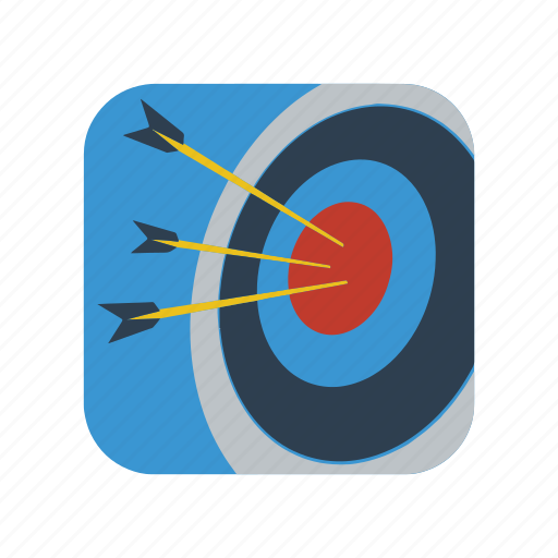 archery, arrow, dart, goal, sign, sport, target icon