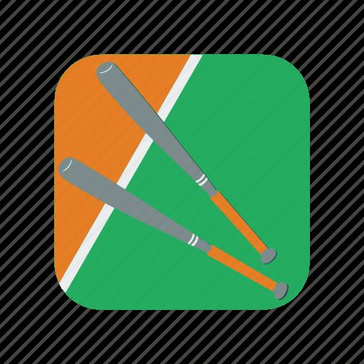 baseball, bat, equipment, homerun, play, stick, strick icon