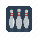 bowling, competition, fun, game, pin, pins, sport icon