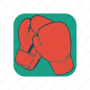 boxing, punch, competition, fight, protection, glove, sport icon