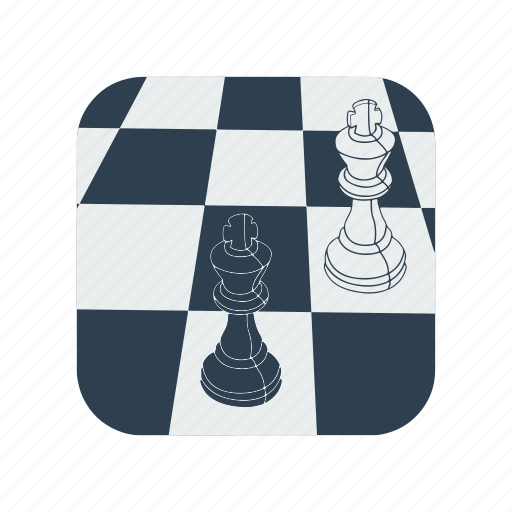 bishop, chess, knight, piece, set, white icon
