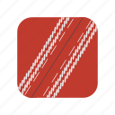 cricket, outdoor, isolated, game, ball, sport, red icon