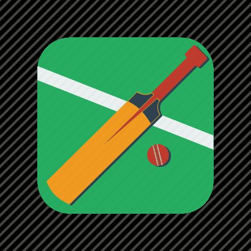 bats, cricket, equipment, exercise, play, sport, team icon