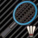 activity, badminton, court, racket, shuttlecock