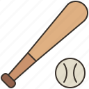 ball, baseball, bat, sports, team