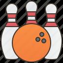 activity, ball, bowling, game, pin