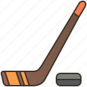 game, hockey, ice, puck, stick icon