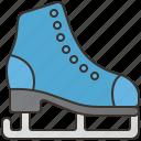 figure, ice, play, skating, winter