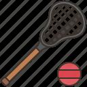 ball, lacrosse, outdoor, sport, stick