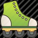 artistic, boot, roller, skate, sport